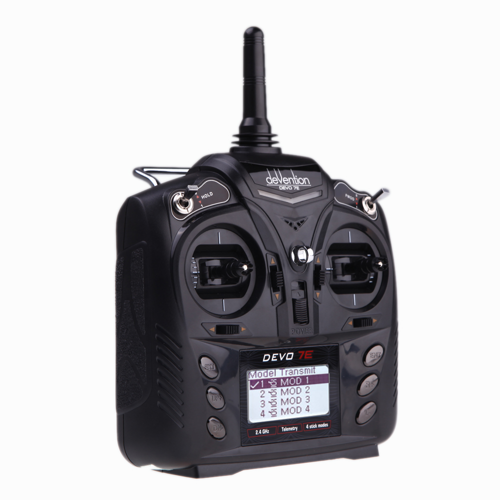 F18519 Walkera DEVO 7E 2.4G 7CH DSSS Radio Control Transmitter for RC Helicopter Airplane Model 2 Mode 1 No Receiver niorfnio portable 0 6w fm transmitter mp3 broadcast radio transmitter for car meeting tour guide y4409b