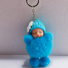 Sleeping Baby Doll Ball Key Chain Car Keyring Holder Bag Pendant Charm Keychain Plush Fur New Cute Women Key(China)