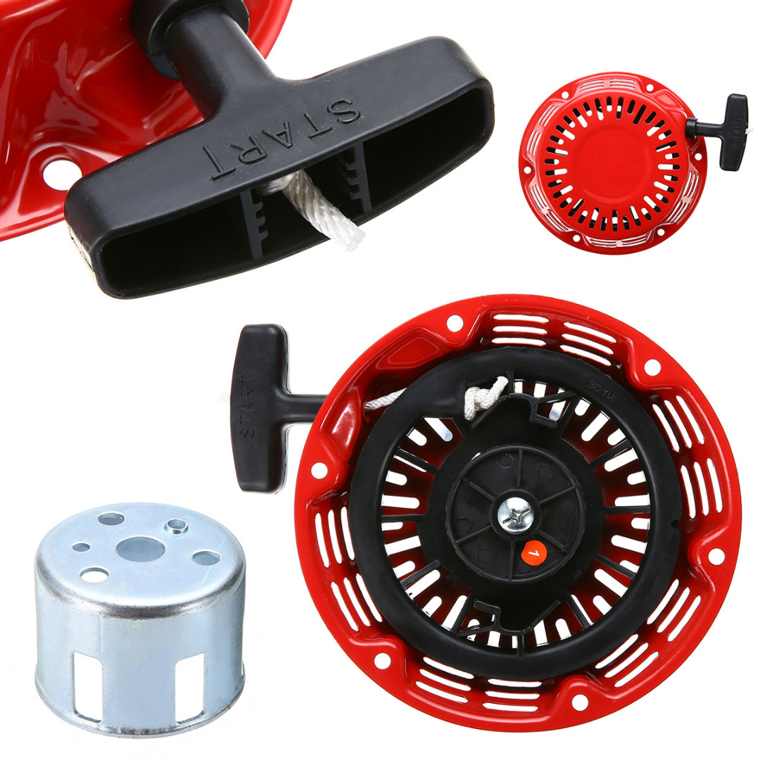 Cortador de Grama Motor Pull Starter Recoil Start Conjunto Kit Parte Substituição Ferramenta Jardim