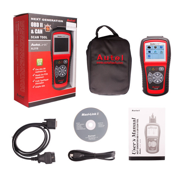 Free Shipping Original Autel AutoLink AL519 OBD-II and CAN Scanner Tool OBD2 Code Scanner  free shipping original autel autolink al519 obd ii and can scanner tool obd2 code scanner