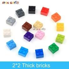 60pcs DIY Building Blocks Thick Figures Bricks 2x2 Dots Educational Creative Size Compatible With lego Plastic Toys for Children