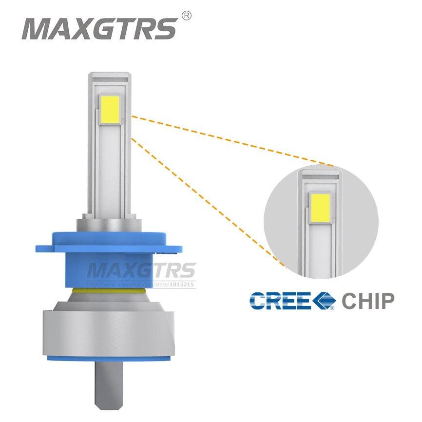Prix pour 2x Date H7 H4 50 W 3600LM CREE Puce COB De Voiture phare LED Avant Brouillard Ampoule DRL de Conduire La Lumière 4300 K/6000 K Alliage matériel