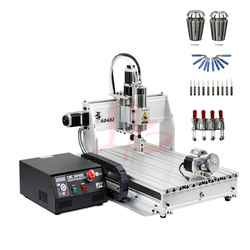4 axis cnc router 6040 2200W water cooled spindle with USB port and limit switch