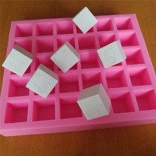 Customized 30 Cavities Cube Soap Mold with Brand Custom Silicone Tray for Cubic Making