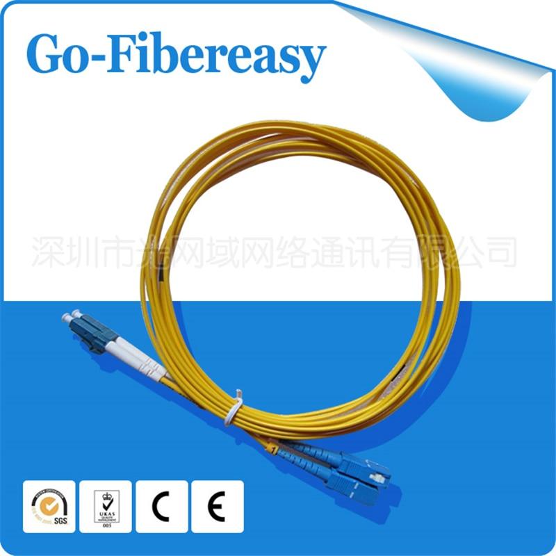 50 meters Fiber Optic Patch Cord LC/UPC-SC/UPC,Duplex,indoor fiber cable ,SM,PVC,50M