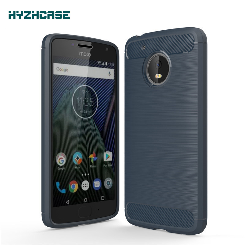 For <font><b>Motorola</b></font> MOTO <font><b>G5</b></font> Case Carbon Fiber Hight Quality Soft Anti-drop Back Cover For MOTO G 5 <font><b>smart</b></font> <font><b>phone</b></font> cases shell housing