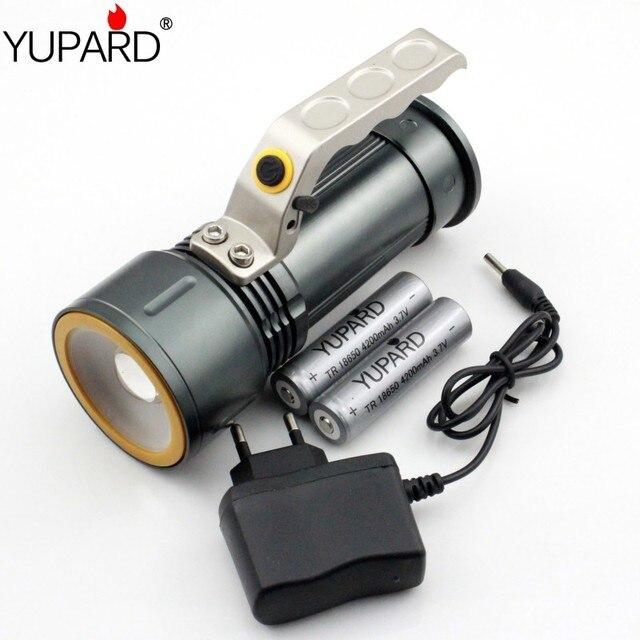 YUPARD XM-L2 LED T6 СВЕТОДИОДНЫЙ масштабируемые Фонарик белый красный свет аварийного Прожектор Прожектор + 18650 аккумуляторная батарея + зарядное устройство