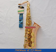 Professional Tenor Saxophone Phosphor Brass Sax Abalone Shell High F# New Case