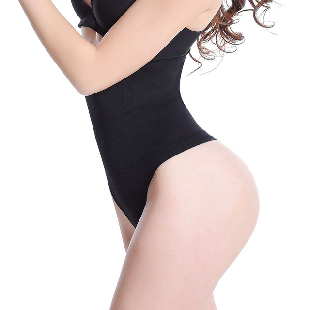 c4983cebbd9f5 Seamless Body Shaper Panty Butt Lifter Thong High Waist Slimming Cincher  Shapewear Tummy Control Girdle Hip Enhancer Underwear