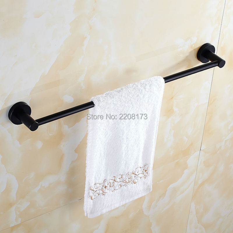 Smesiteli Bathroom 50CM Or 60CM Single Towel Bar Towel Rack Towel Holder Solid Brass Matte Black Finish Bathroom Accessories