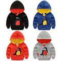 2017 spring and autumn hoodie boy sweatshirts child cartoon dinosaur top 100% cotton boys sports outerwear