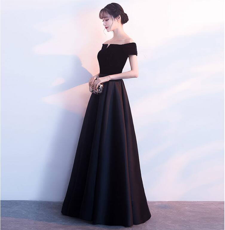 Robes de soirée en velours 2019 robe à lacets robe de soirée formelle robe de bal personnalisée robes robe de soirée - 3