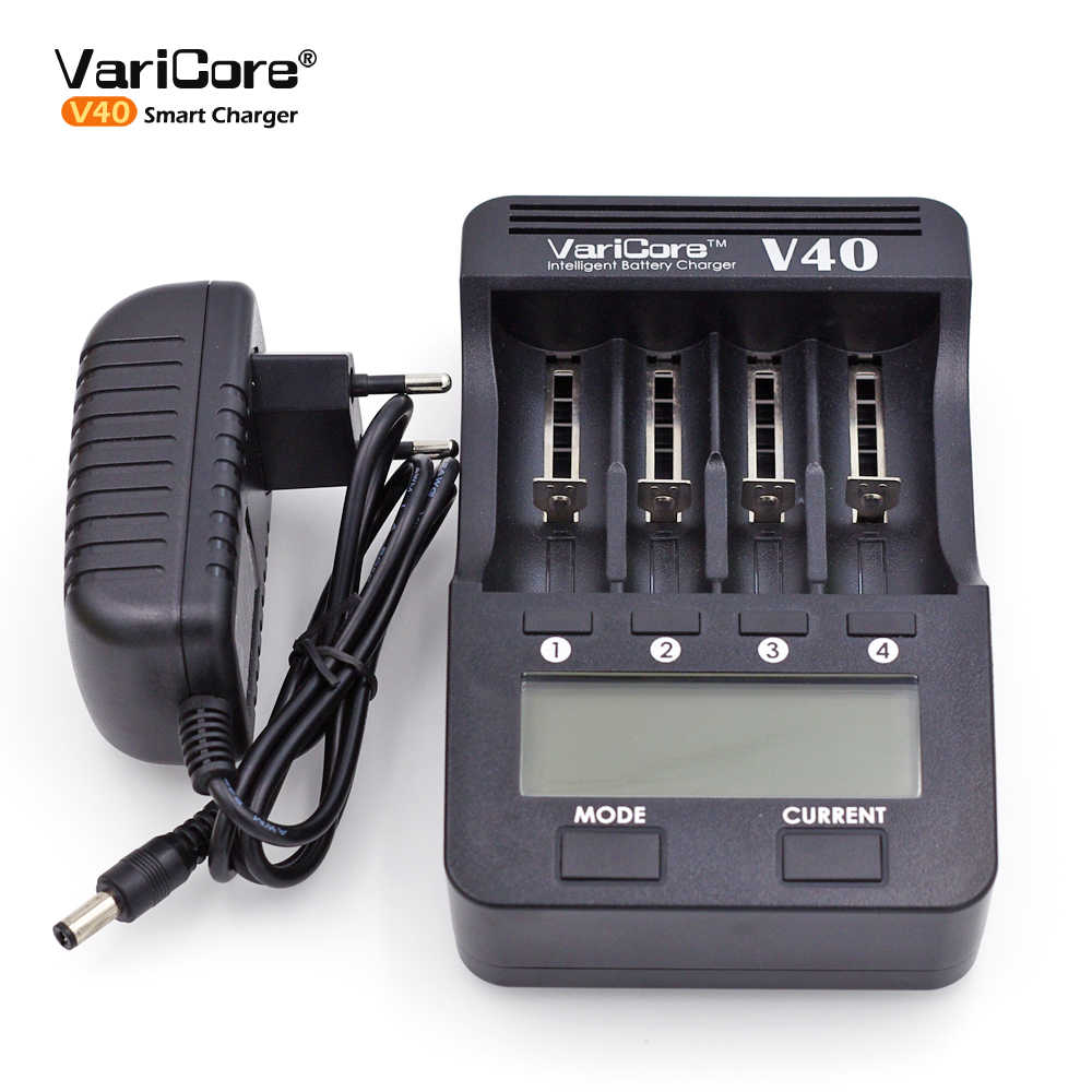 VariCore V40 V20I V10 U4 شاحن بطارية ل 3.7 فولت 18650 26650 18500 16340 14500 18350 بطارية ليثيوم أيون 1.2 فولت AA/AAA NiMH بطاريات