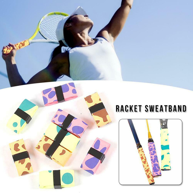 12pcs Summer Replacment Tennis Racket Soft Racquet Non Slip Dumbbell Grip Badminton Clap Sweat Band Safety Matte Accessories