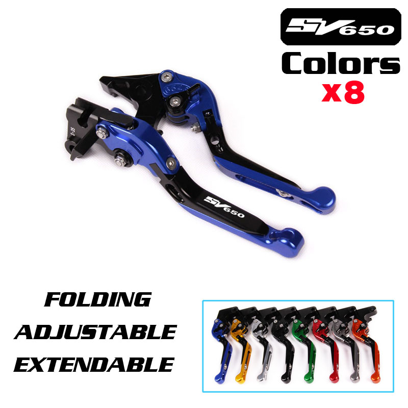 For SUZUKI SV650 SV650S 1999 06 07 08 2009 BLUE Free shipping Adjustable Folding Extendable Brake Clutch Lever Motorcycle for suzuki gsf600 gsf400 gsx600 rv600 sv650 dl650 katana black s motorcycle adjustable folding extendable brake clutch lever