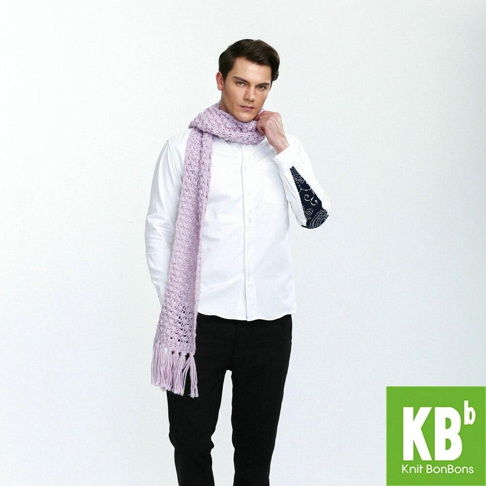2018 KBB Printemps Vente Classique À La Mode Pur Pourpre Mignon Dentelle  Style Chaud Tricoté Femmes Cou Couverture Écharpe Hommes Echarpes Wrap 7df761b3895