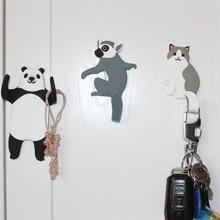 Прекрасный мультфильм Кот Панда медведь ультра-мощный супер сильный магнитный крючок микроволновая печь кухня холодильник настенный крючок