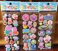 6 Листов розовая свинья семейные наклейки для детей Домашнего декора стен на ноутбуке милые животные мини 3D стикера холодильник скейтборд каракули