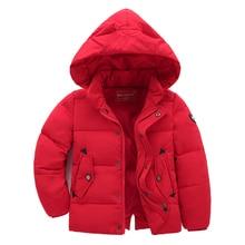 Детская одежда мальчиков зимние хлопка мягкой куртки 2017 вниз хлопок ватные куртки утолщение дети сгущает Капюшоном пальто 90-130 см