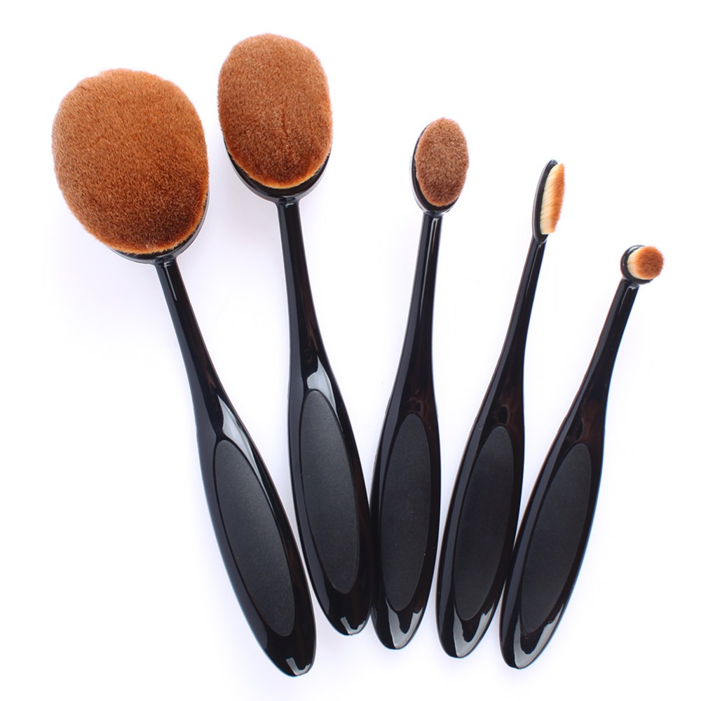 Black makeup brushes