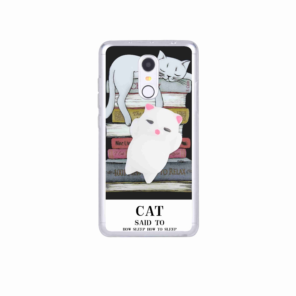 Squishy 3d cat phone case - Squishy 3d Cat Phone Case For Xiaomi Redmi 3 3s 4 Pro Prime 4a 4x Note 3 Se Case Anti Stress Claw Kitty Gel Soft Silicone Cover In Fitted Cases From