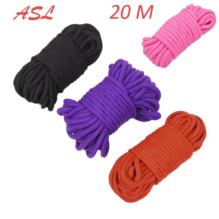 Rope Cord Binding Binder Restraint,adult Slave Role Play Sex Toys Home Apprehensive 20 M Long Soft Cotton Rope Bdsm Bondage Shibari Restraints