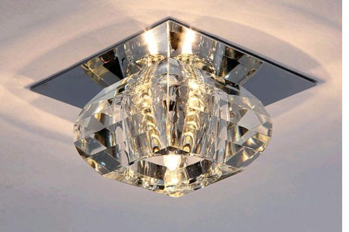 Simple fashion aisle LED crystal ceiling lamps aisle corridor entrance porch lights home lighting lamps Ceiling lights SD153 220v 110v 85 265v stainless steel ceiling lights entrance porch corridor lighting light scene lighting