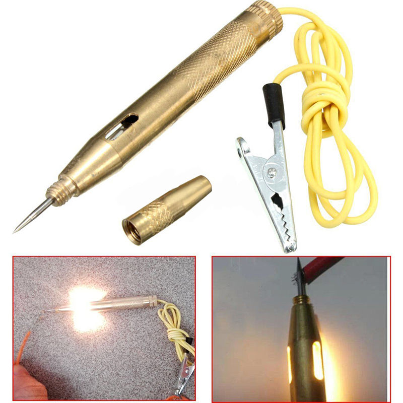 1pc Electrical Voltage Tester Pen Automotive Car Light Lamp Test Tool 6V/12V/24V Mayitr цена