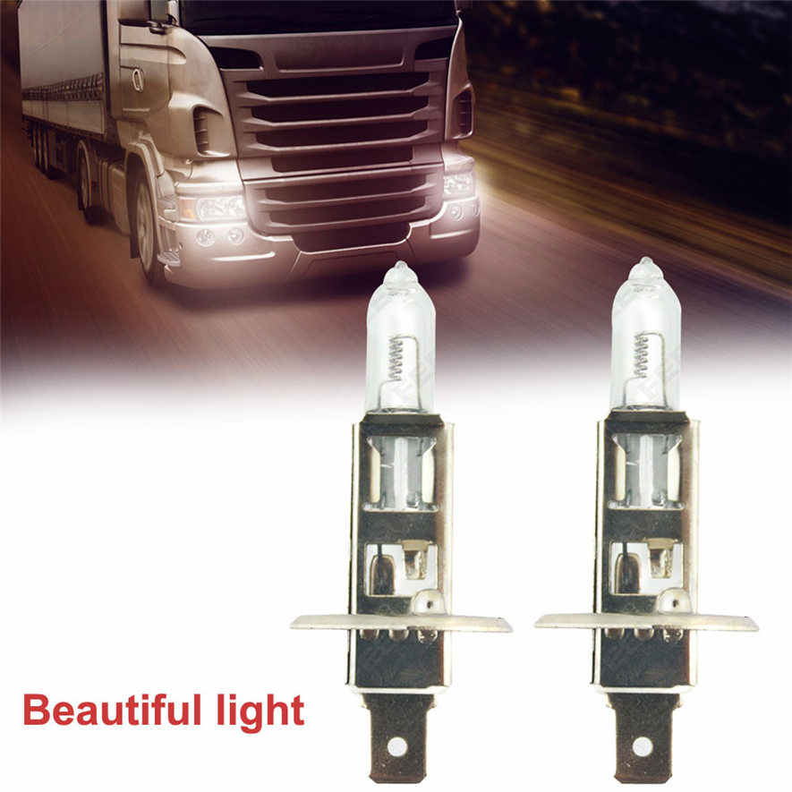 2X H1 3000k 100w Xenon Gas Halogen Headlight White Light Lamp Bus/Truck Bulb 24v Practical and Durable High Quality l0408