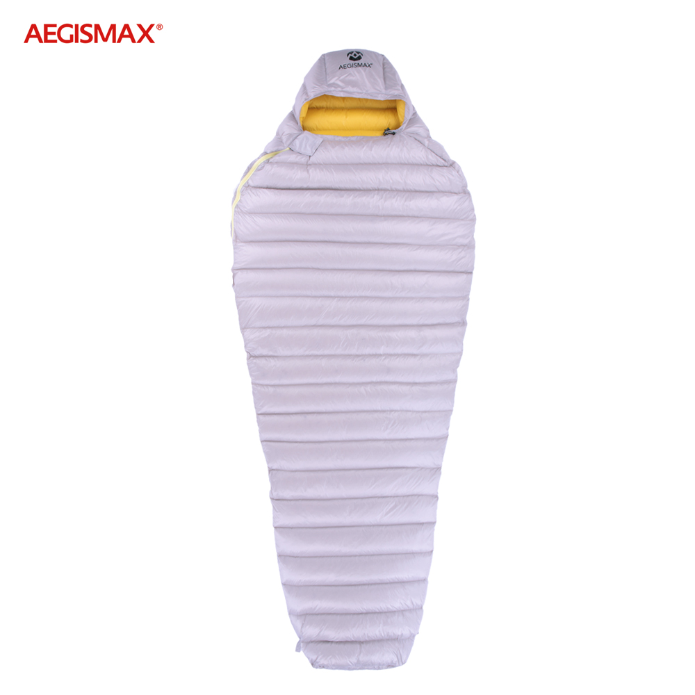 100% Quality Aegismax Ultra Dry White Goose Down Sleeping Bags With Hood Mummy Type Outdoor Camp Hike Sleeping Gear Water Repellent Down As Effectively As A Fairy Does Sleeping Bags Sports & Entertainment