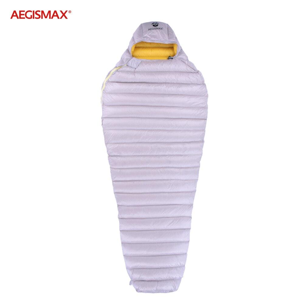aegismax ganso branco ultra seco para baixo sacos de dormir com capuz tipo mumia acampamento ao