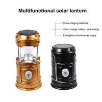 Solar Power Rechargeable LED Flashlight Camping Tent Light Torch Lamp Lantern 55 JD9 WWO66