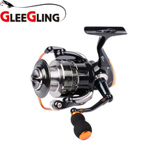 ФОТО gleegling gfr06 fishing spinning reel 1000-6000 series pesca da carpa alumunium spool 5.5:1 gear fishing accessories
