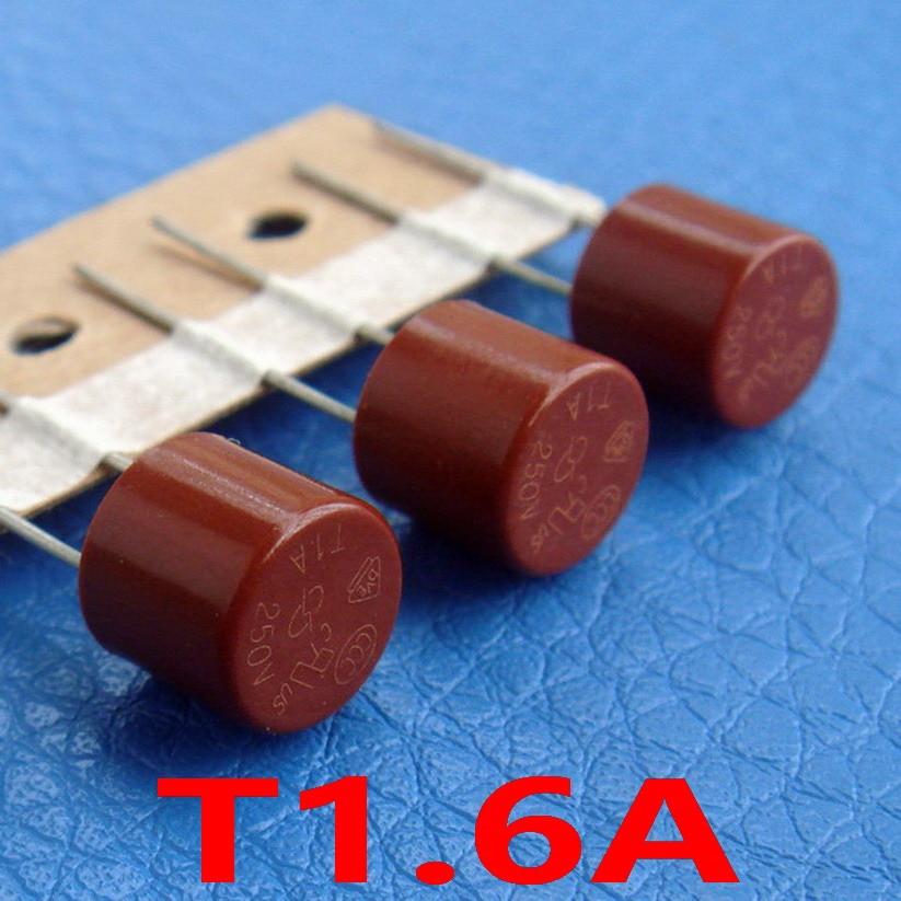 10 Pcs Lot T1 6a 250v Tr5 Slow Blow Subminiature Fuse