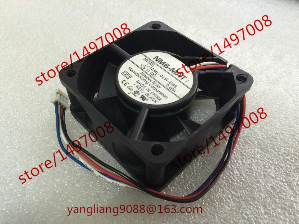 Free Shipping For NMB 2410ML-04W-B66, G01 DC 12V 0.40A, 60x60x25mm 4-wire Server Square cooling fan