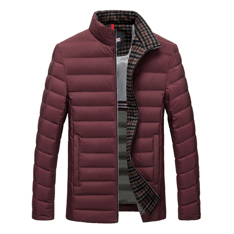 DZYS Men's White Duck   Down   Jacket Slim Light   Down     Coat   for Men Male 6617