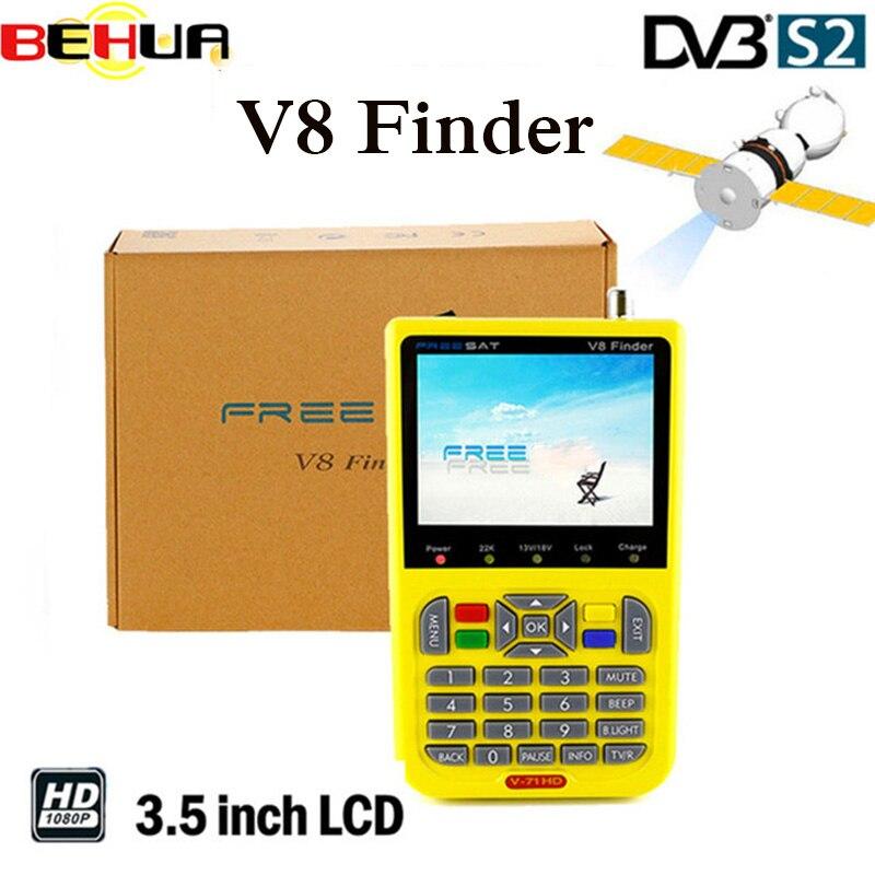 [Genuine] V8 Finder V-71 HD DVB-S2 High Definition Satellite Finder MPEG-4 DVB S2 Satellite Meter Satfinder Full 1080P satlink недорго, оригинальная цена