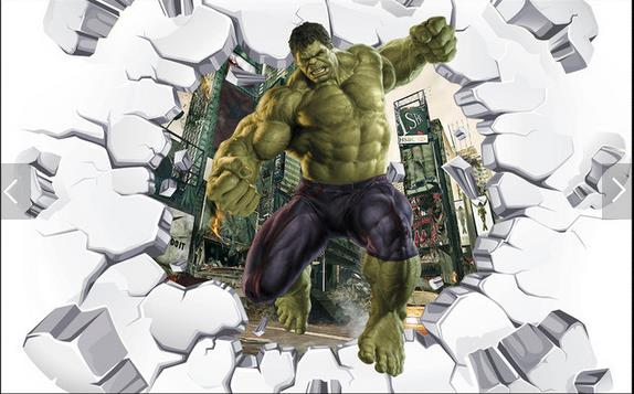Free Shipping 3D stereo break wall wallpaper bedroom living room TV sofa lounge bar KTV hotel background Hulk wallpaper mural  free shipping cartoon pattern wallpaper leisure bar ktv lounge living room sofa children room background comics wallpaper mural