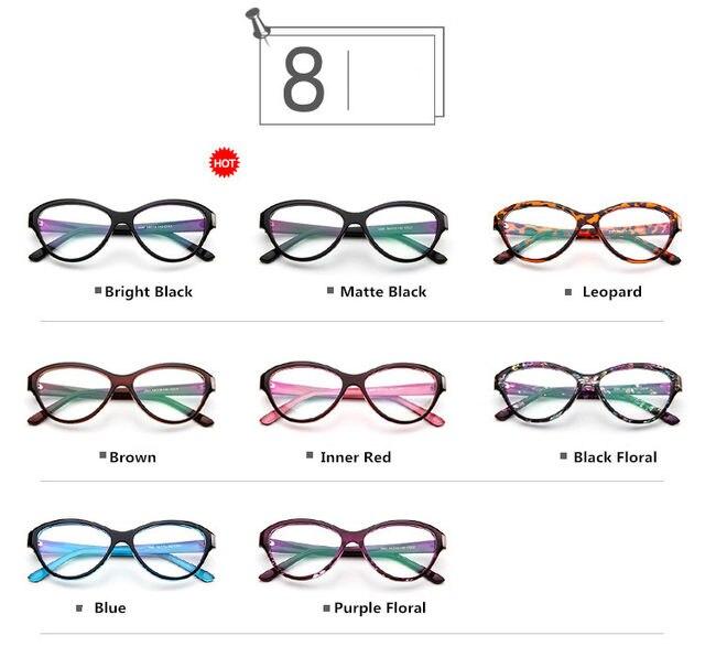 Tienda Online Estilo del gato de ojos lente transparente gafas marco ...