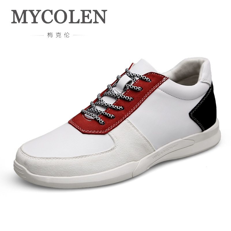 MYCOLEN 2018 New Breathable Men Casual Shoes Top Brand Shoes Men Sneakers Fashion Trainers For Men Flats Sepatu Casual Pria mycolen 2018 new summer breathable men casual shoes slip on male fashion footwear height increasing sneakers sepatu casual pria