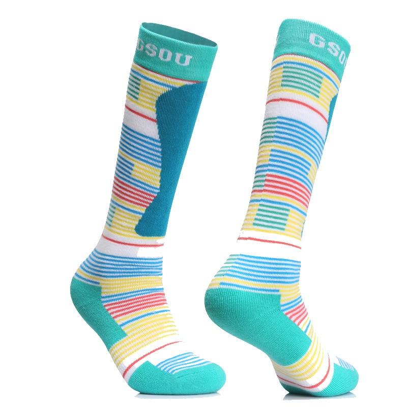 2018 GSOU SNOW stockings men women lovers autumn winter hiking socks warm socks high tube Ski Socks