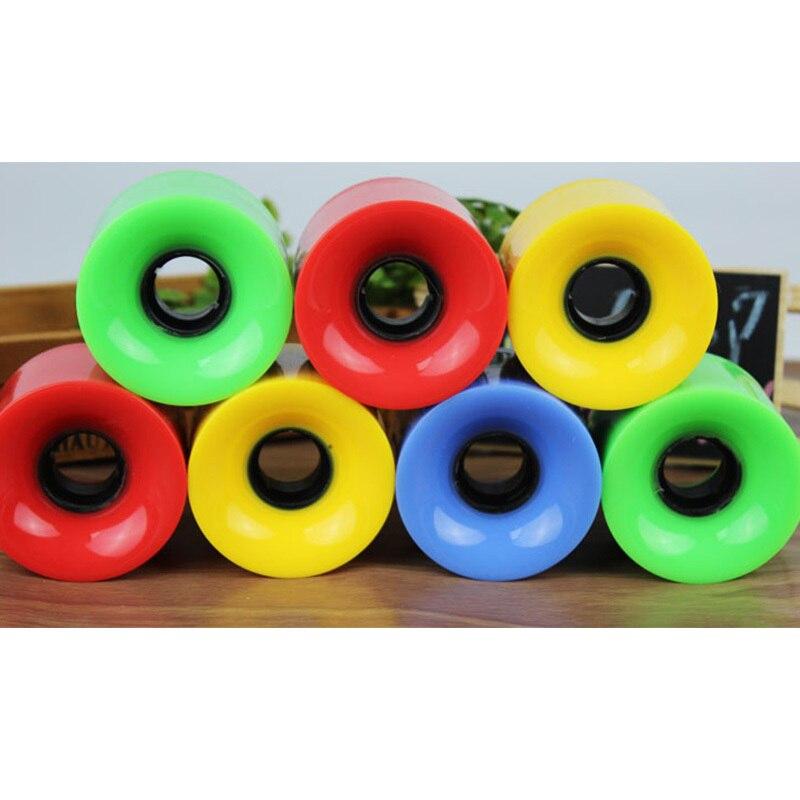New 4pcs/set 60mmx45mm Hardness 75A Skateboard Wheels High Strength  Wearproof Wheel For Long Board Skate Board Free Shipping