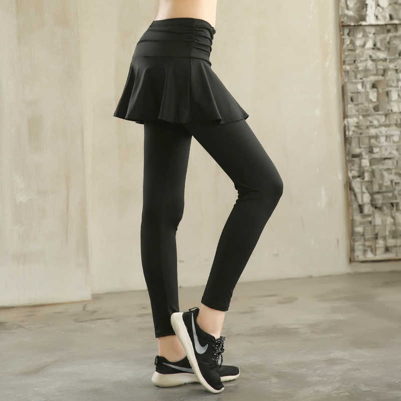 81a764c8bd2 ... 2019 New Women's leggings sports tights with skirt leggings for dancing womens  yoga pants sweatpants wide ...