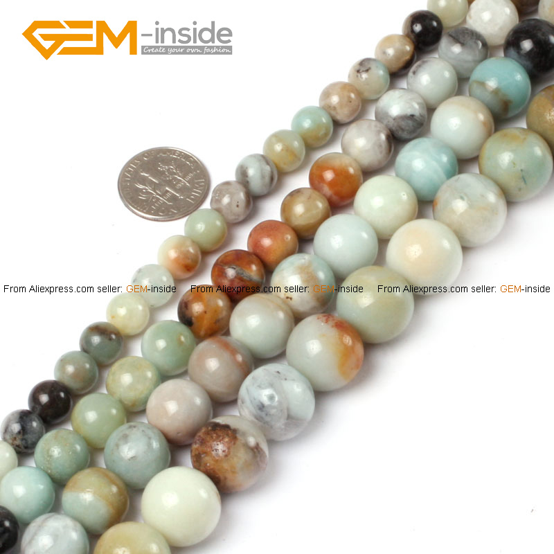 Buy gem inside natural round amazonite for Natural seeds for jewelry making