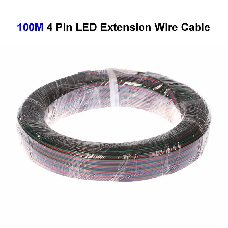 Colors 4pin 4 Wire Extension Connect Cable Cord For 3528 5050 Led