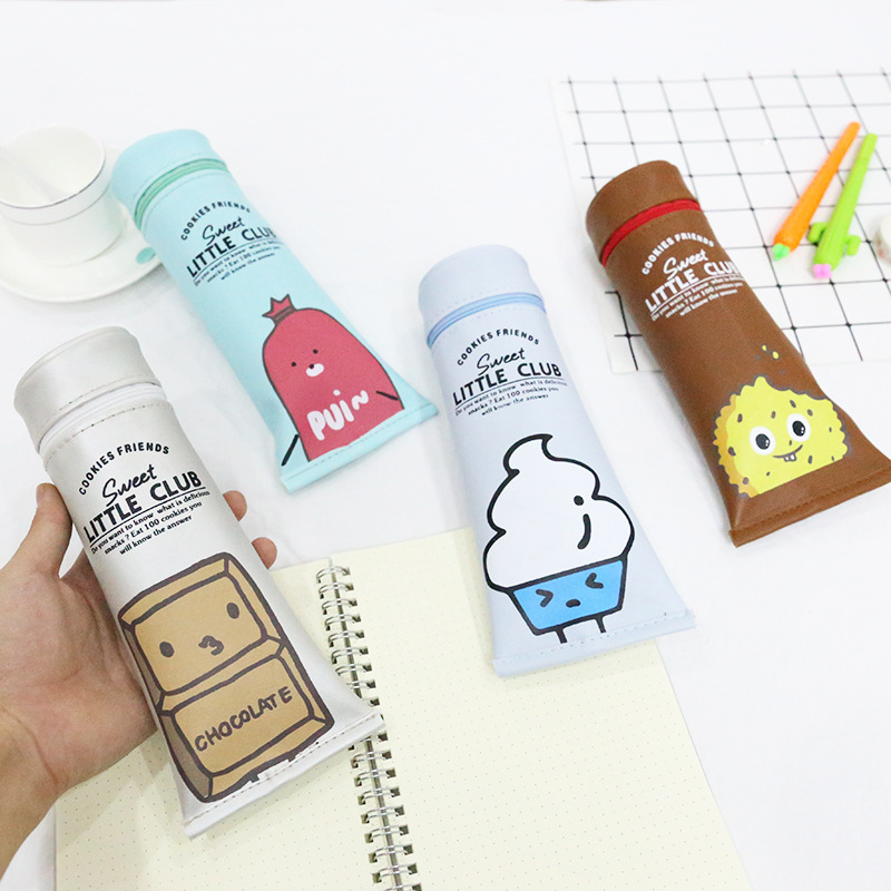 Korean Snack Mobilization Stero Toothpaste PU Waterproof School Pencil Cases Stationery Pencilcase Pencil Case For School snack pencil case