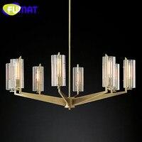 Modern Metal Crystal Chandelier Lamp Nordic Villa Living Room Lights Dinning Room Suspension Lighting Fixture 6 Heads 8 Heads