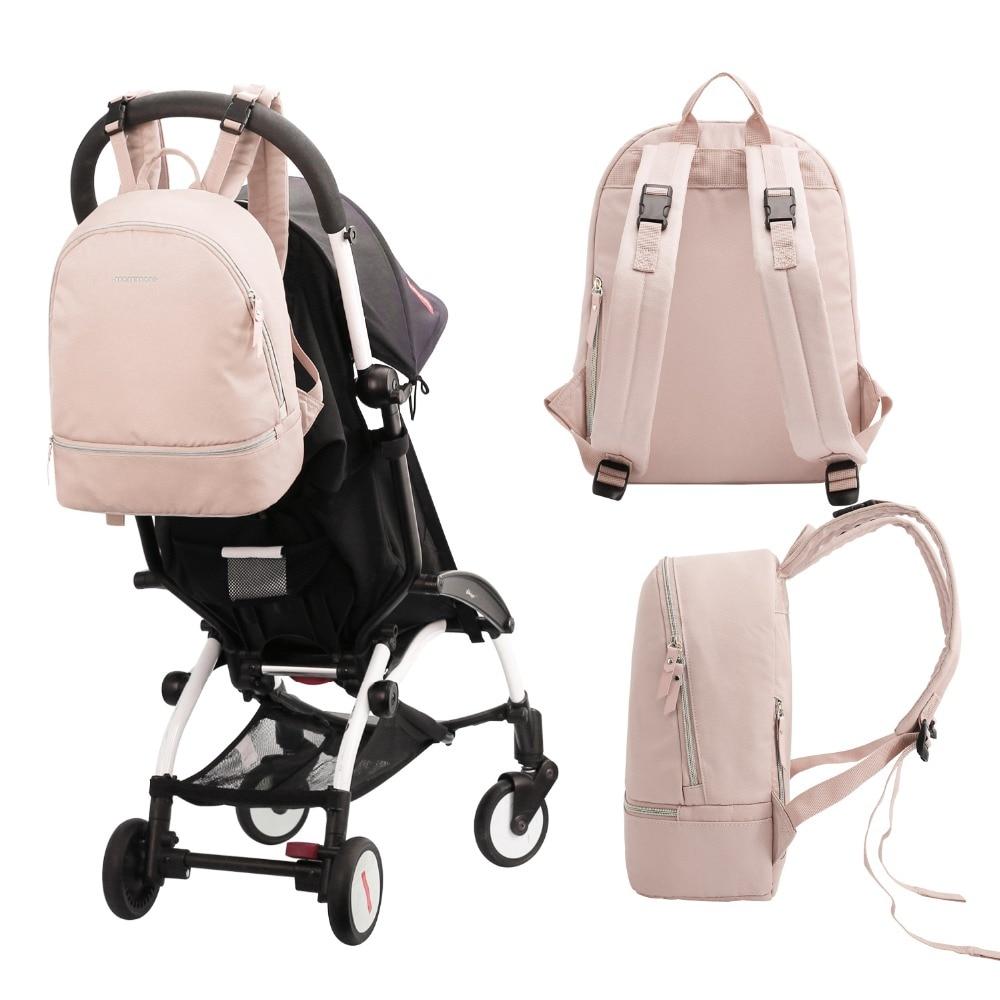 Mommore pequeño moda pañal mochila impermeable viaje bolsa de pañales con cambiador Pad bolsa de enfermería para el cuidado del bebé - 5