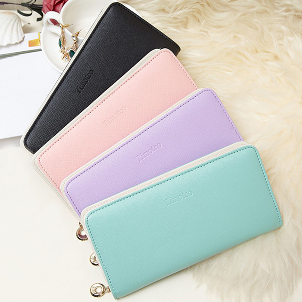 все цены на Women's Purse 2017 Women Wallets Long Bifold Leather Wallet Women Card Holder Wallets carteras mujer Ladies Purse sacoche homme онлайн