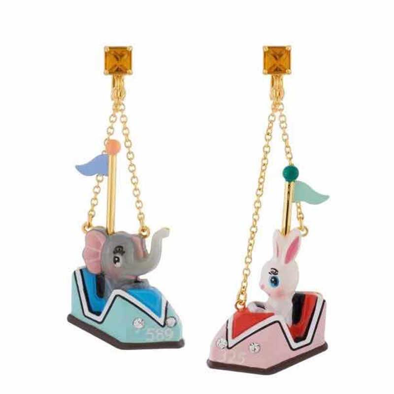 2018 Amybaby модные дизайнерские глянцевое покрытие ручной работы Дамбо и кролики женские серьги-гвоздики ювелирные изделия для вечерние